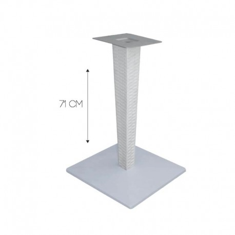 TABLE BISTROT BEAU RIVAGE CARRE 70 x 70 TOP STRATIFIE COMPACT